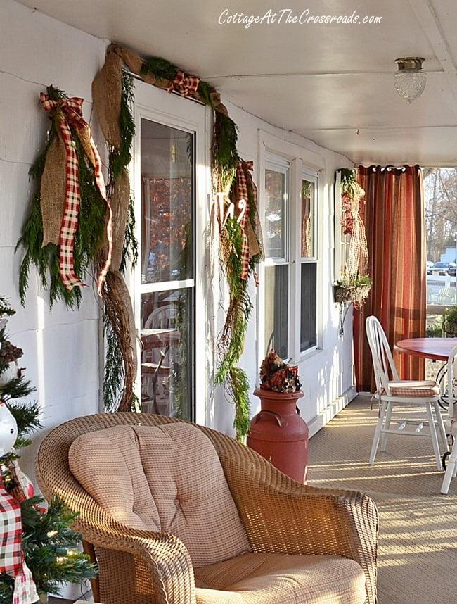 Christmas Porch | Cottage at the Crossroads