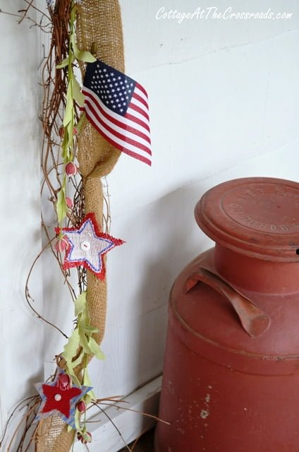 Fourth of July patriotic wreath and garland | Cottage at the  Crossroads