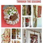 grapevine garland through the seasons