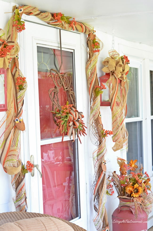 fall wreath and garland | Cottage at the Crossroads