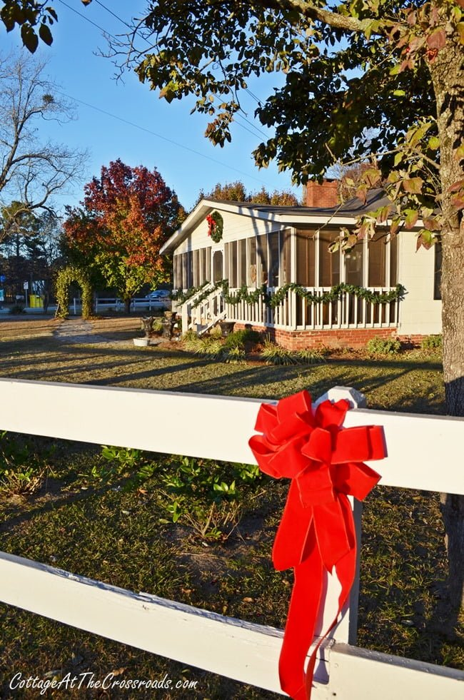 Cottage At The Crossroads-Outdoor Christmas Decor - Cottage at the Crossroads-How I Found My Style Sundays- Christmas Edition- From My Front Porch To Yours