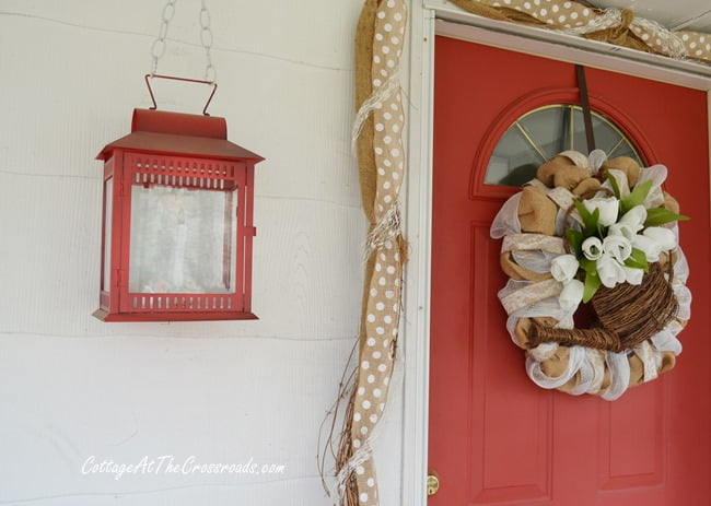 spring wreath and garland | Cottage at the Crossroads