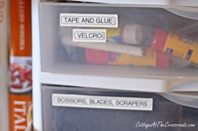 labels on drawers | Cottage at the Crossroads