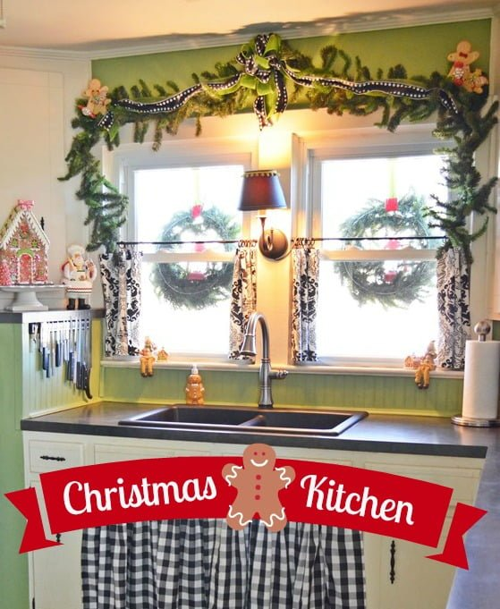 Christmas Kitchen with a Gingerbread Theme | Cottage at the Crossroads