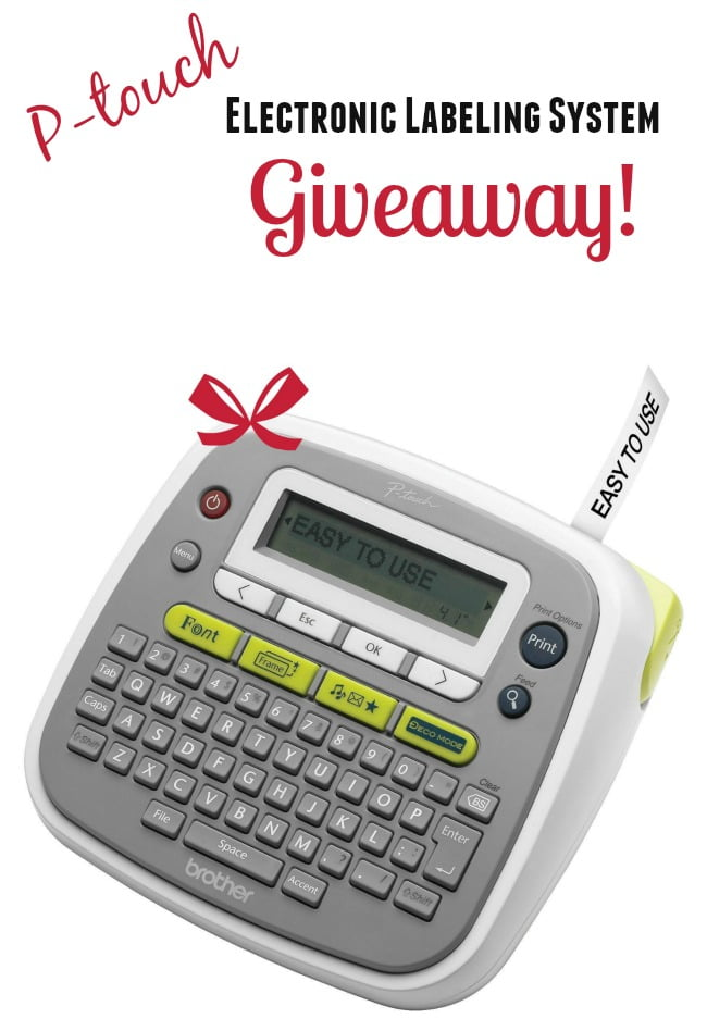 Easy to use P-touch Electronic  Labeling System Giveaway | Cottage at the Crossroads