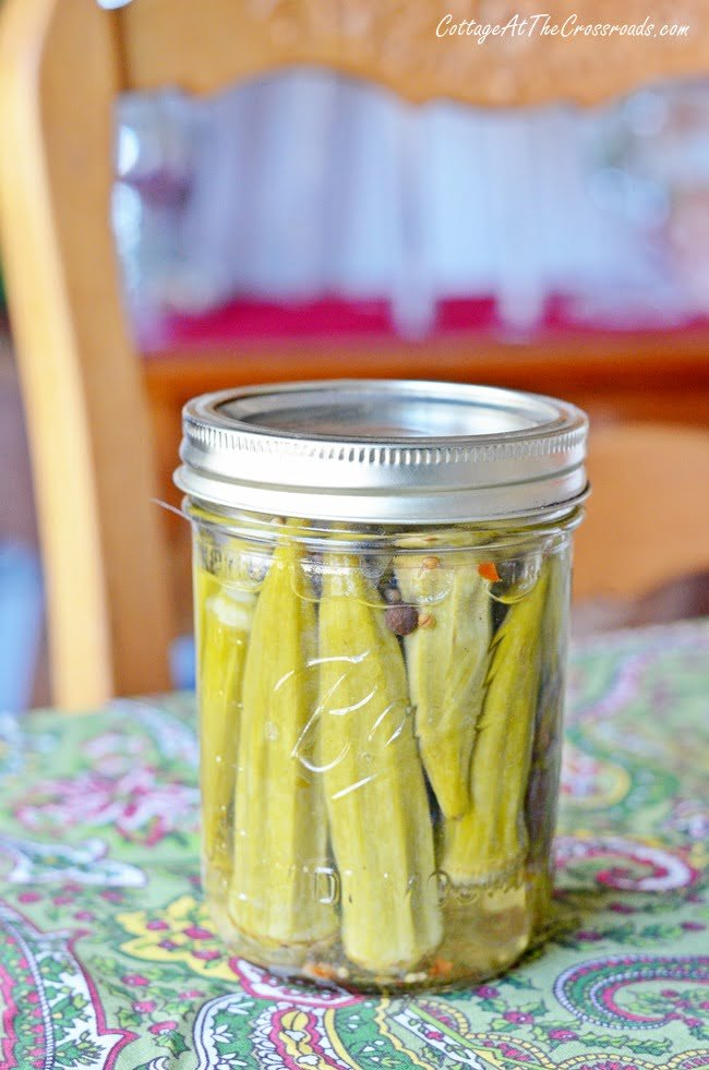 Pickled Okra | Cottage at the Crossroads