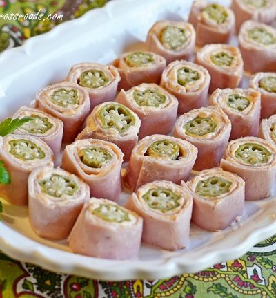 Pickled Okra and Ham Rollups | Cottage at the Crossroads