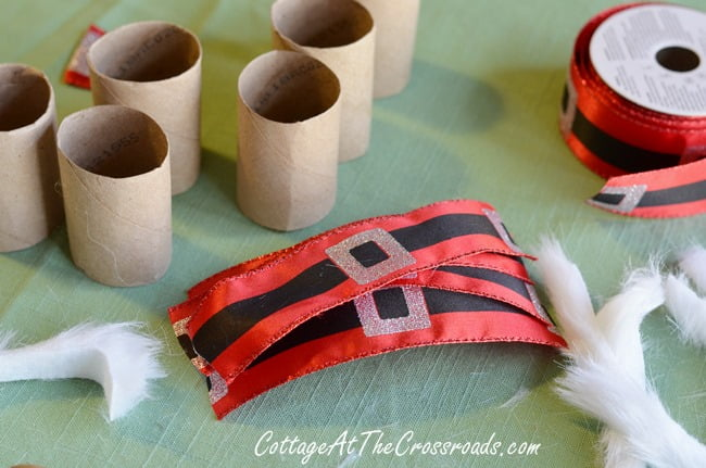 DIY Santa Napkin Rings | Cottage at the Crossroads