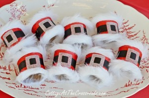 DIY Santa Napkin Rings