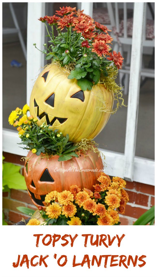 Topsy Turvy Jack 'O Lanterns | Cottage at the Crossroads