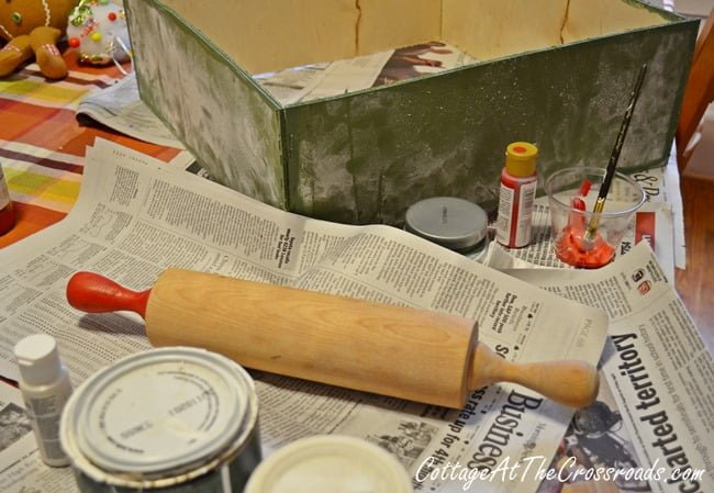 rolling pin with painted handles | Cottage at the Crossroads
