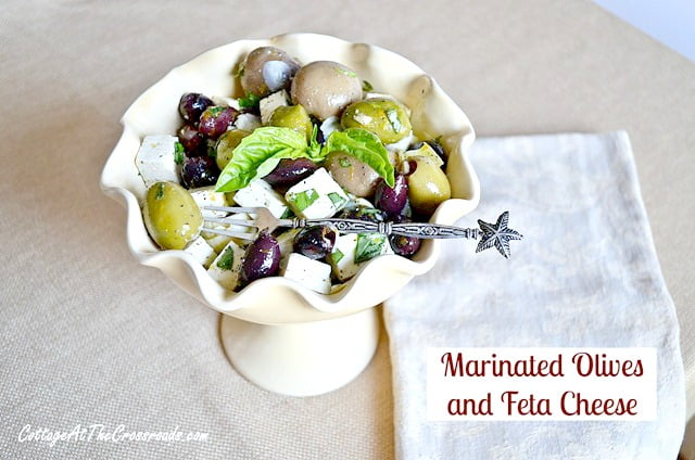Marinated Olives and Feta Cheese | Cottage at the Crossroads