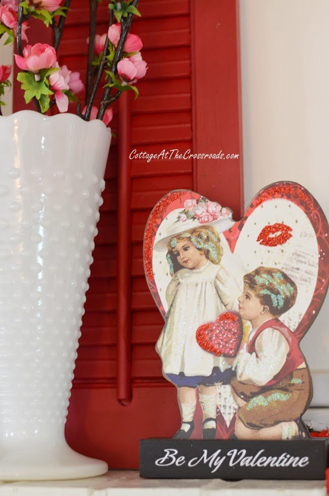 Valentine's Day Mantel | Cottage at the Crossroads