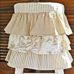Cutest ruffled stool cover ever! | Cottage at the Crossroads
