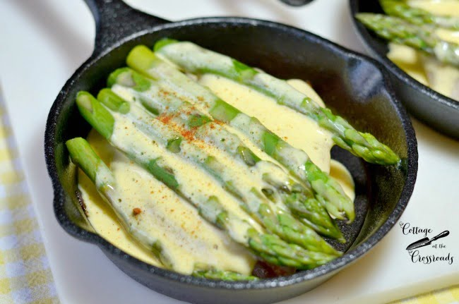 open face asparagus sandwich | Cottage at the Crossroads