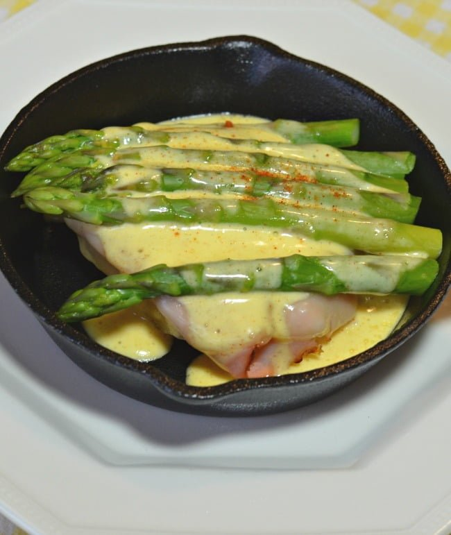 open faced skillet sandwich