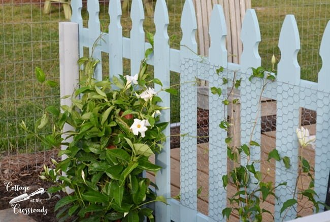 blue picket fence panel | Cottage at the Crossroads