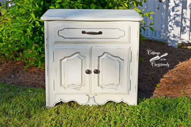 French Country Painted Night Stand | Cottage at the Crossroads