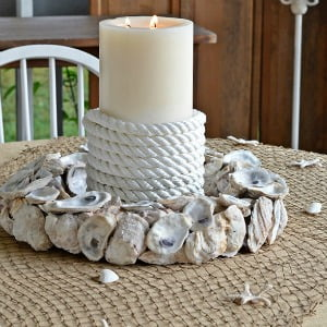 How to Make an Oyster Shell Candle Ring | Cottage at the Crossroads
