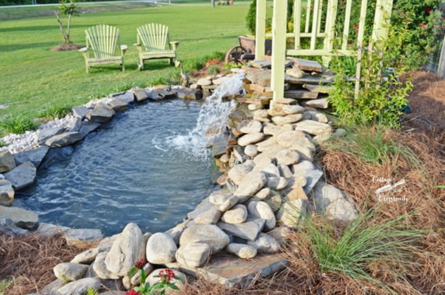 Building a Garden Waterfall | Cottage at the Crossroads