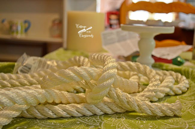 white nautical rope | Cottage at the Crossroads