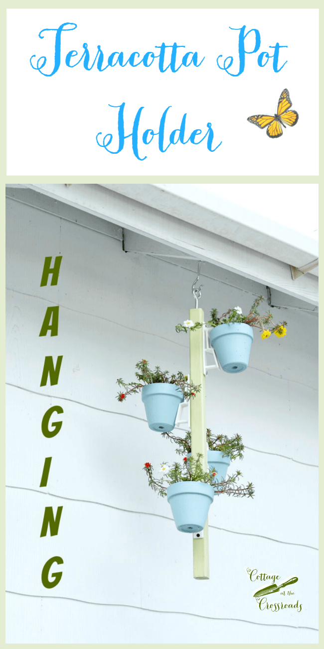 Put your plants on display with this easy to diy hanging pot holder from Cottage at the Crossroads