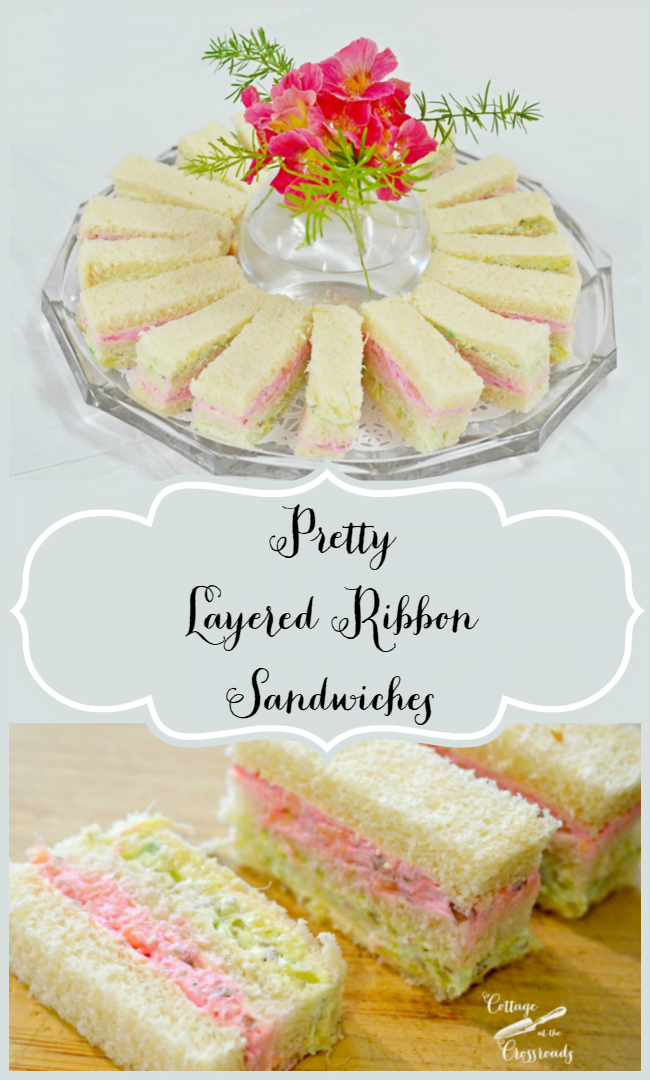 How to Make Pretty, Layered Ribbon Sandwiches | Cottage at the Crossroads