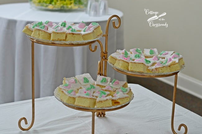 cake squares | Cottage at the Crossroads
