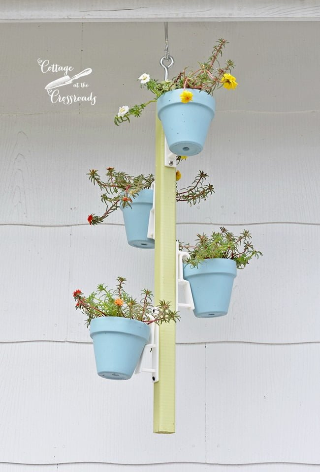 hanging terracotta pot holder | Cottage at the Crossroads