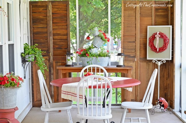 Summer Porch | Cottage at the Crossroads