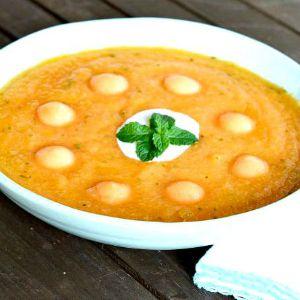 Peachy Cantaloupe Soup