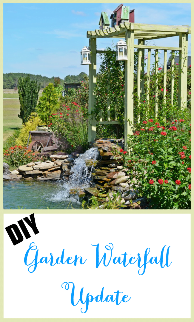 DIY Garden Waterfall Update | Cottage at the Crossroads