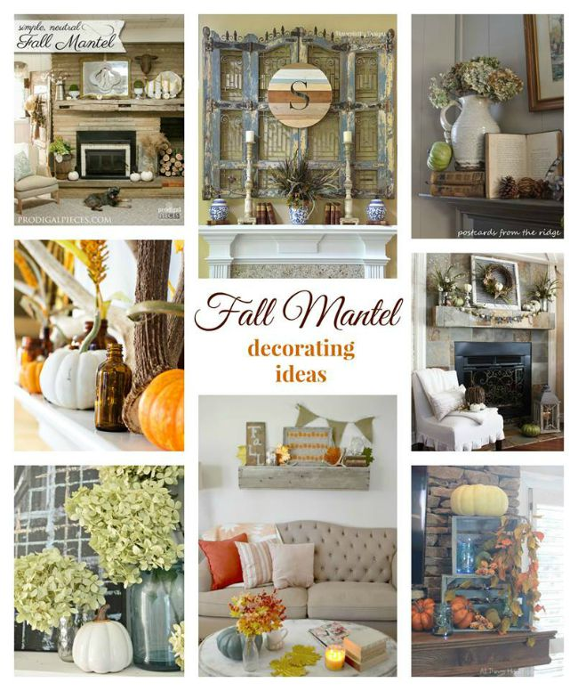 8 Gorgeous Fall Mantels | Cottage at the Crossroads