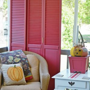 painted repurposed closet doors | Cottage at the Crossroads