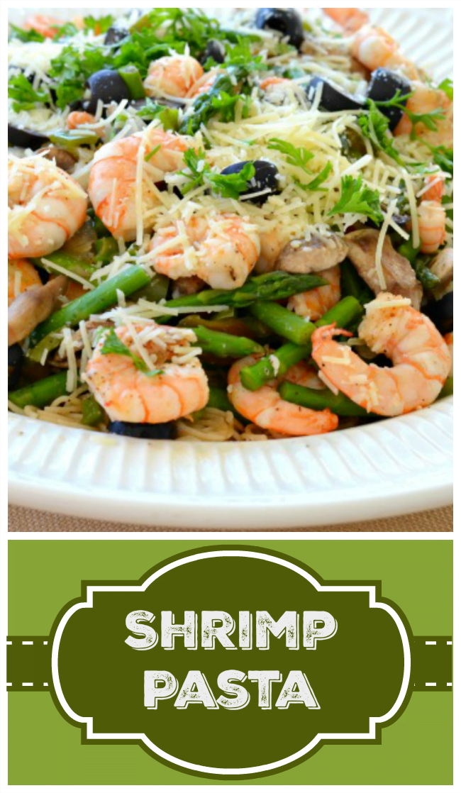 This scrumptious shrimp pasta will amaze your family and friends! Feeds a crowd and is so easy!