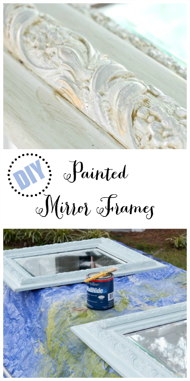 DIY Painted Mirror Frames