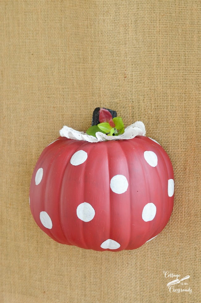 polka dot pumpkin | Cottage at the Crossroads