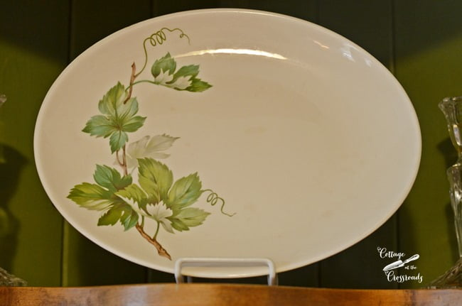 platter with green leaves | Cottage at the Crossroads