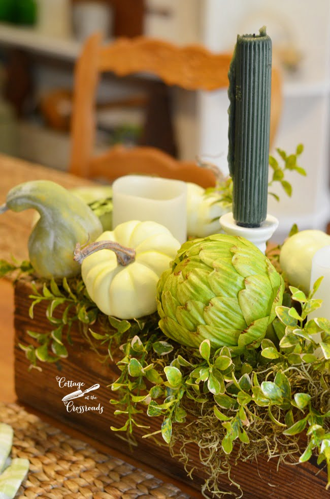fall table centerpiece | Cottage at the Crossroads