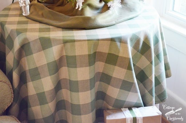 green buffalo checked fabric | Cottage at the Crossroads