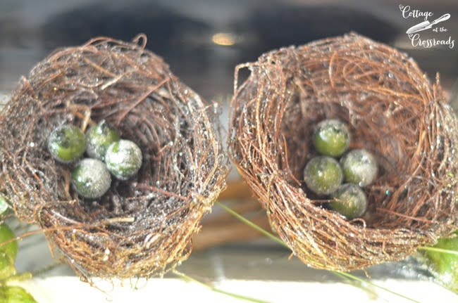 green eggs in nests | Cottage at the Crossroads