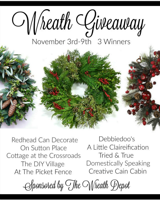 Enter to win 1 of 3 $100 gift certificates from The Wreath Depot
