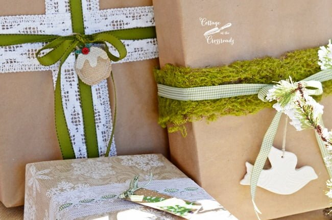 Pretty and Easy Gift Wrap Ideas | Cottage at the Crossroads