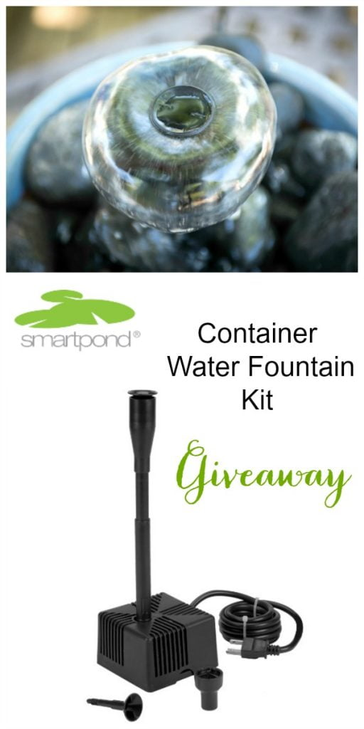 smartpond container water fountain giveaway