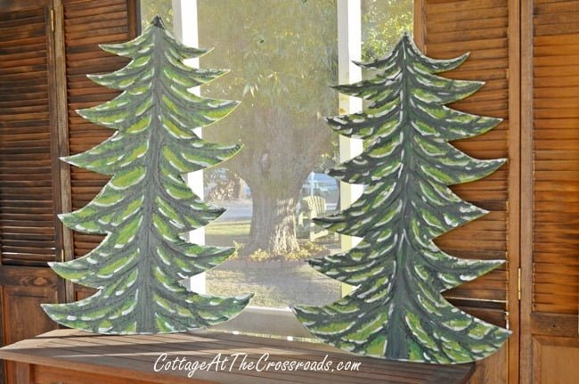 wooden Christmas trees | Cottage at the Crossroads