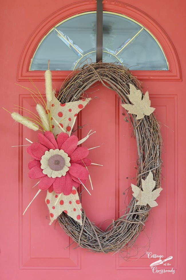 fall wreath | Cottage at the Crossroads