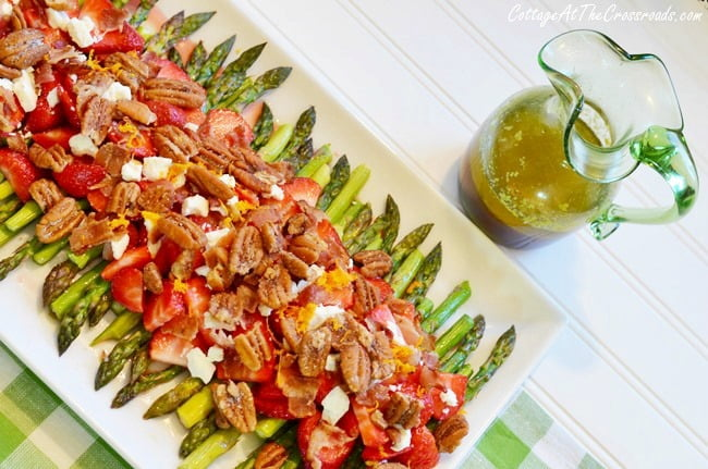 Asparagus Strawberry Salad | Cottage at the Crossroads