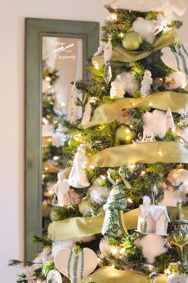 green and white Christmas tree | Cottage at the Crossroads
