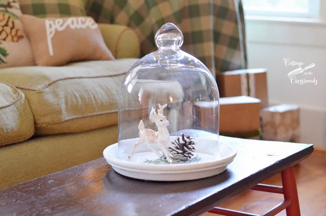 deer under a cloche | Cottage at the Crossroads