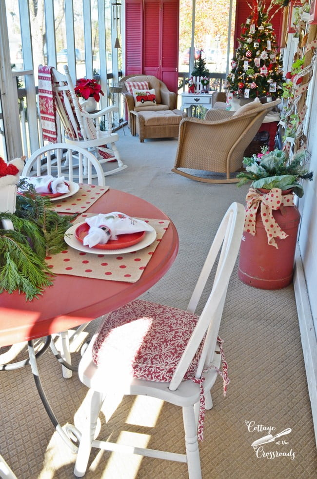Christmas Front Porch | Cottage at the Crossroads